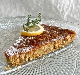 Gâteau citron thym miel