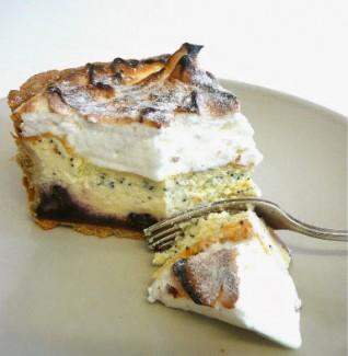 Tarte au fromage blanc meringuée